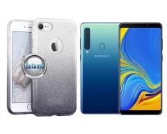 iLLuminaTe silikoninis dėklas nugarėlė Samsung Galaxy A9 (2018) telefonams sidabro spalvos