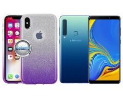 iLLuminaTe silikoninis dėklas nugarėlė Samsung Galaxy A9 (2018) telefonams violetinės spalvos