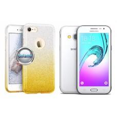 iLLuminaTe silikoninis dėklas nugarėlė Samsung Galaxy J3 (2016) telefonams aukso spalvos
