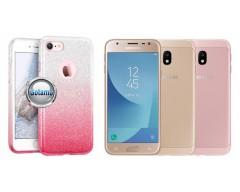 iLLuminaTe silikoninis dėklas nugarėlė Samsung Galaxy J3 (2017) telefonams rožinės spalvos