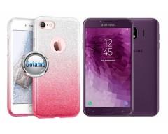 iLLuminaTe silikoninis dėklas nugarėlė Samsung Galaxy J4 (2018) telefonams rožinės spalvos