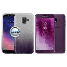 iLLuminaTe silikoninis dėklas nugarėlė Samsung Galaxy J4 (2018) telefonams tamsiai violetinės spalvos