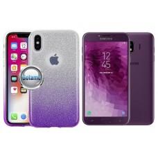 iLLuminaTe silikoninis dėklas nugarėlė Samsung Galaxy J4 (2018) telefonams violetinės spalvos
