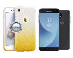 iLLuminaTe silikoninis dėklas nugarėlė Samsung Galaxy J5 (2017) J5 Pro telefonams aukso spalvos