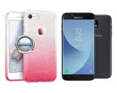 iLLuminaTe silikoninis dėklas nugarėlė Samsung Galaxy J5 (2017) J5 Pro telefonams rožinės spalvos