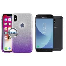 iLLuminaTe silikoninis dėklas nugarėlė Samsung Galaxy J5 (2017) J5 Pro telefonams violetinės spalvos
