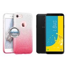 iLLuminaTe silikoninis dėklas nugarėlė Samsung Galaxy J6 (2018) telefonams rožinės spalvos