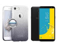 iLLuminaTe silikoninis dėklas nugarėlė Samsung Galaxy J6 (2018) telefonams sidabro spalvos