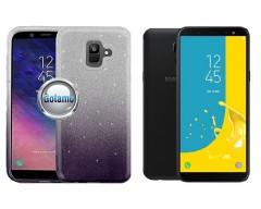 iLLuminaTe silikoninis dėklas nugarėlė Samsung Galaxy J6 (2018) telefonams tamsiai violetinės spalvos