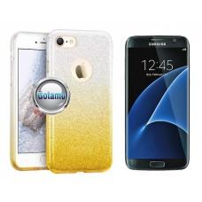 iLLuminaTe silikoninis dėklas nugarėlė Samsung Galaxy S7 telefonams aukso spalvos