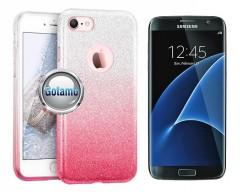 iLLuminaTe silikoninis dėklas nugarėlė Samsung Galaxy S7 telefonams rožinės spalvos
