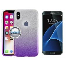 iLLuminaTe silikoninis dėklas nugarėlė Samsung Galaxy S7 telefonams violetinės spalvos