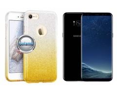 iLLuminaTe silikoninis dėklas nugarėlė Samsung Galaxy S8+ telefonams aukso spalvos