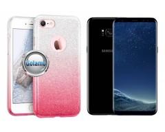iLLuminaTe silikoninis dėklas nugarėlė Samsung Galaxy S8+ telefonams rožinės spalvos