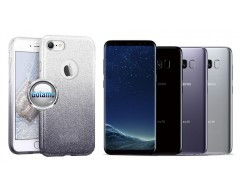 iLLuminaTe silikoninis dėklas nugarėlė Samsung Galaxy S8 telefonams sidabro spalvos