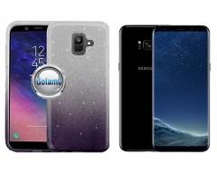 iLLuminaTe silikoninis dėklas nugarėlė Samsung Galaxy S8+ telefonams tamsiai violetinės spalvos
