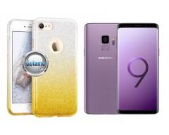 iLLuminaTe silikoninis dėklas nugarėlė Samsung Galaxy S9 telefonams aukso spalvos