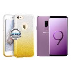 iLLuminaTe silikoninis dėklas nugarėlė Samsung Galaxy S9+ telefonams aukso spalvos