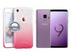 iLLuminaTe silikoninis dėklas nugarėlė Samsung Galaxy S9 telefonams rožinės spalvos