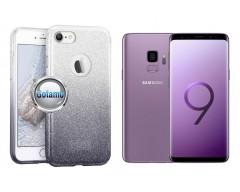 iLLuminaTe silikoninis dėklas nugarėlė Samsung Galaxy S9 telefonams sidabro spalvos
