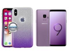 iLLuminaTe silikoninis dėklas nugarėlė Samsung Galaxy S9 telefonams violetinės spalvos