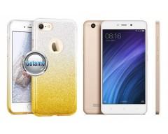 iLLuminaTe silikoninis dėklas nugarėlė Xiaomi Redmi 4A telefonams aukso spalvos