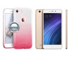 iLLuminaTe silikoninis dėklas nugarėlė Xiaomi Redmi 4A telefonams rožinės spalvos