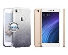 iLLuminaTe silikoninis dėklas nugarėlė Xiaomi Redmi 4A telefonams sidabro spalvos