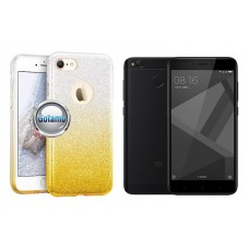 iLLuminaTe silikoninis dėklas nugarėlė Xiaomi Redmi 4X telefonams aukso spalvos Klaipėda | Šiauliai | Telšiai