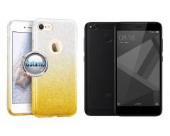 iLLuminaTe silikoninis dėklas nugarėlė Xiaomi Redmi 4X telefonams aukso spalvos