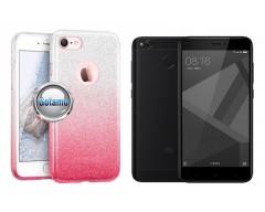 iLLuminaTe silikoninis dėklas nugarėlė Xiaomi Redmi 4X telefonams rožinės spalvos