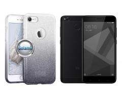 iLLuminaTe silikoninis dėklas nugarėlė Xiaomi Redmi 4X telefonams sidabro spalvos