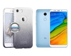 iLLuminaTe silikoninis dėklas nugarėlė Xiaomi Redmi 5 telefonams sidabro spalvos