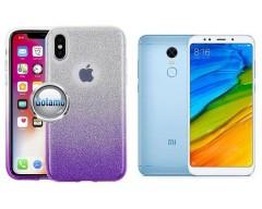iLLuminaTe silikoninis dėklas nugarėlė Xiaomi Redmi 5 telefonams violetinės spalvos