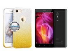 iLLuminaTe silikoninis dėklas nugarėlė Xiaomi Redmi Note 4, Xiaomi Redmi Note 4X telefonams aukso spalvos