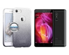 iLLuminaTe silikoninis dėklas nugarėlė Xiaomi Redmi Note 4, Xiaomi Redmi Note 4X telefonams sidabro spalvos