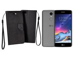 Manager dėklas LG K8 (2017) mobiliesiems telefonams juodos spalvos