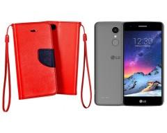 Manager dėklas LG K8 (2017) mobiliesiems telefonams raudonos spalvos