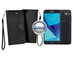 Manager dėklas Samsung Galaxy J3 Prime J3 Emerge mobiliesiems telefonams juodos spalvos
