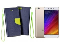 Manager dėklas Xiaomi Mi 5s mobiliesiems telefonams mėlynos spalvos