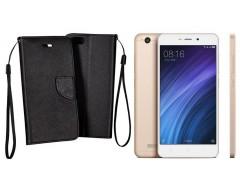 Manager dėklas Xiaomi Redmi 4A mobiliesiems telefonams juodos spalvos