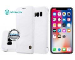 Nillkin Qin odinis dėklas Apple iPhone X Xs telefonams baltos spalvos