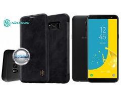 Nillkin Qin odinis dėklas Samsung Galaxy J6 (2018) telefonams juodos spalvos