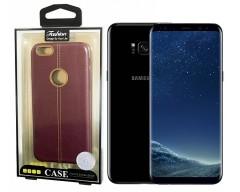 Nomad odinė nugarėlė Samsung Galaxy S8+ telefonams bordo spalvos