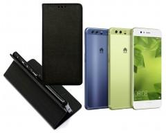 Re-Grid magnetinis dėklas Huawei P10 mobiliesiems telefonams juodos spalvos
