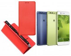 Re-Grid magnetinis dėklas Huawei P10 mobiliesiems telefonams raudonos spalvos