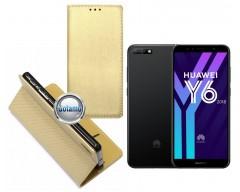 Re-Grid magnetinis dėklas Huawei Y6 (2018) Huawei Honor 7A telefonams aukso spalvos
