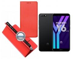Re-Grid magnetinis dėklas Huawei Y6 (2018) Huawei Honor 7A telefonams raudonos spalvos