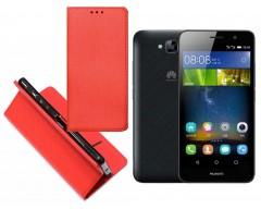 Re-Grid magnetinis dėklas Huawei Y6 Pro mobiliesiems telefonams raudonos spalvos