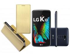 Re-Grid magnetinis dėklas LG K10 mobiliesiems telefonams aukso spalvos